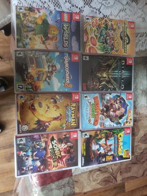 Nintendo switch 8 games for Sale in Garland, TX