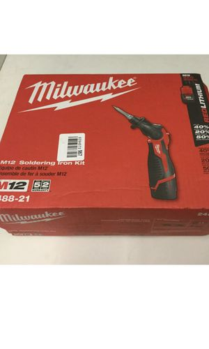 Milwaukee M12 Cordless Lithium-Ion Soldering Iron Kit. New In the Box 📦! for Sale in Mundelein, IL
