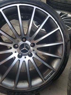 Amg 19s. 2008 rims tires wheels e350 c300 e63 for Sale in La Verne, CA