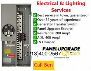 Licensed Electrician Available for Panel Upgrades for Sale in Los Angeles, CA
