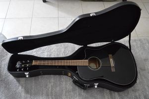 Fender Concert Acoustic-Electric Guitar Black WITH CASE for Sale in Boston, MA