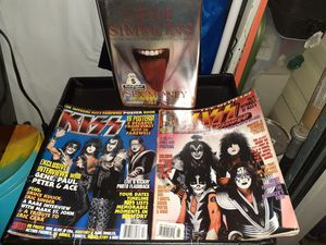 2-Collectable KISS Magazines&Gene Simmons Book-Sex,$,Kiss for Sale in St. Louis, MO