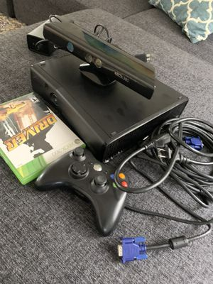 Xbox 360 bundle with Kinect, one controller all cables and game driver for Sale in Aliso Viejo, CA