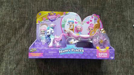 New Shopkins Happy places Royal Trends glitter carriage with one doll for Sale in Rockville,  MD