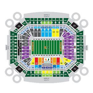 4 Miami Hurricanes vs Georgia Tech Yellow Jackets Club Level Tickets 10/19 for Sale in Miramar, FL