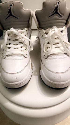 Jordan, all white retro 5's, 9 1/2 for Sale in Tucson, AZ