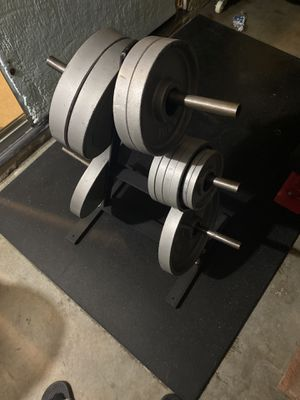 Olympic weights w/ tree for Sale in Chino Hills, CA