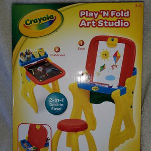 Crayola Play 'N Fold 2-in-1 Art Studio Easel Desk With Stool & Storage for Sale in San Diego, CA