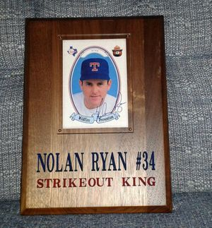 Nolan Ryan Wood Wall Plaque Signed * for Sale in Kensington, MD