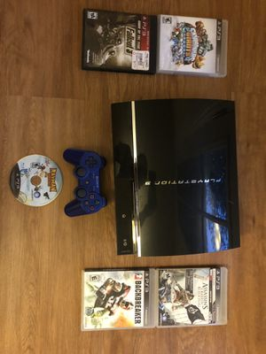 Backwards Compatible PS3 w/ 5 games and controller for Sale in Fairfield, CA
