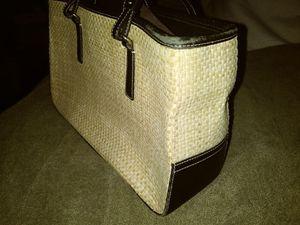 Coach straw handbag for Sale in Abington, MA