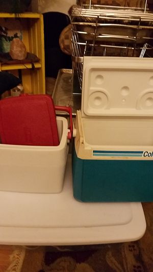 Pair of Coleman coolers, one never used, another one very lightly used for Sale in Portland, OR