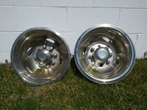 Dually truck wheel covers 35.00 for Sale in Greenwood, IN