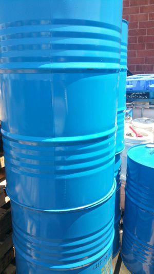 Food Grade 55 gallon metal drum $15 each no chemical for Sale in Rosemead, CA