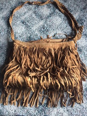 Brown fringe shoulder bag for Sale in Allegan, MI