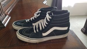 Vans black and white high tops. Size 10.5. for Sale in Wildomar, CA