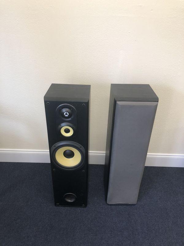 "Sony 8"" tower speakers"