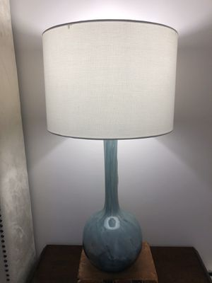 Pair 2 Light Blue Table lamps for Sale in Pompano Beach, FL