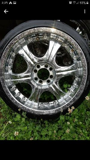 Full set of rox 17in crome rims for Sale in Tacoma, WA