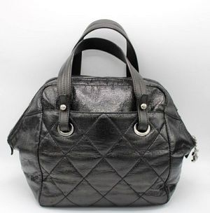 Chanel Paris Biarritz Black Coated Canvas Satchel Bag Handbag for Sale in Honolulu, HI