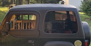 Jeep Wrangler TJ hard top and upper half doors set for Sale in Frederick, MD