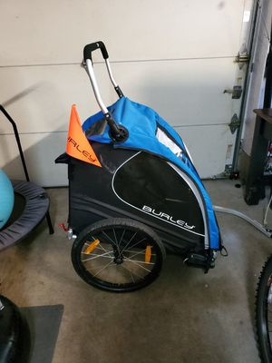 Burley Encore trailer -pull behind bike or use as stroller! for Sale in Camas, WA
