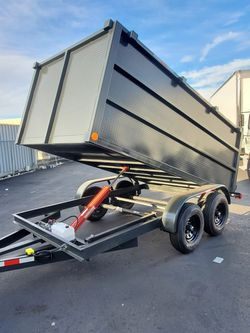 NEW DUMP TRAILER 2021 8X12X4 12000 LBS HYDRAULIC SYSTEM ELECTRIC BRAKES TITLE IN HAND for Sale in Los Angeles,  CA