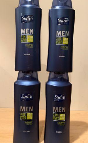 4 big Suave Men 3-in-1 shampoo/conditioner/body wash for Sale in Alexandria, VA