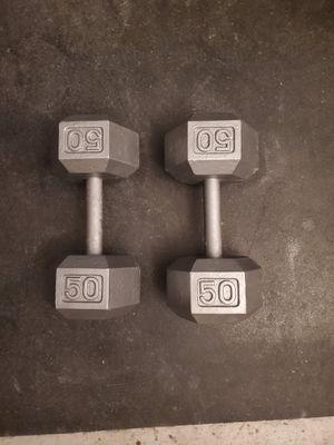 50 pound dumbells for Sale in Las Vegas, NV