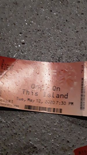 Once on this island broadway tix and parking for Sale in Seattle, WA
