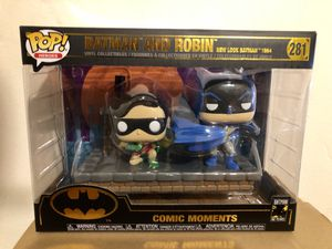 Funko Pop Batman and Robin Comic Moments Action Figure Collectible for Sale in Long Beach, CA