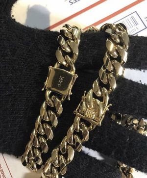Cuban link set chain and bracelet for Sale in Haines City, FL