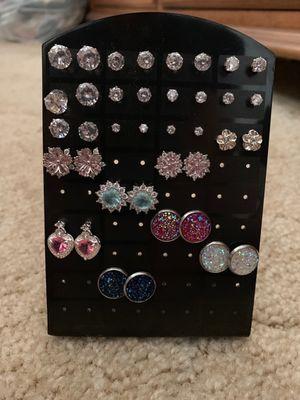Fake diamond stud earrings $10 each for Sale in Lititz, PA