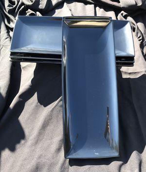 Rectangle Serving Platters (5), black for Sale in Orange, CA