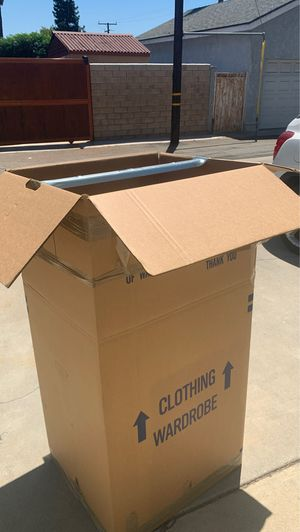 FREE wardrobe closet box for Sale in San Dimas, CA