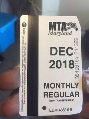 Monthly Buss Pass for Sale in Baltimore, MD