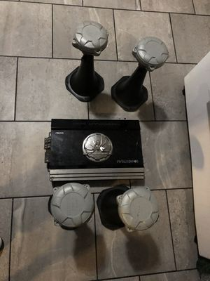 4 selenium voice speakers 🔊 and 600 watts 4 Chanel for Sale in Boston, MA