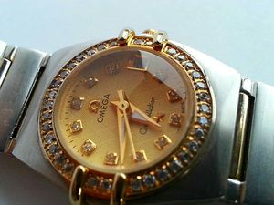 Omega constellation bejeweled face ladies watch for Sale in DW GDNS, TX