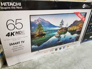 """65"""" LED SMART 4K ULTRA HDTV BY HITACHI. AMAZING PICTURE AND SOUND QUALITY. 1 YEAR WARRANTY for Sale in Los Angeles, CA"""
