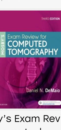 Mosby's Exam Review for Computed Tomography 3rd Edition 9780323416337 eBook PDF Free Instant Delivery for Sale in Ontario,  CA