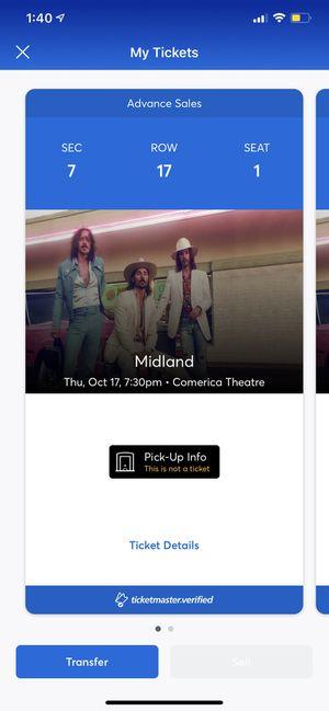 2 Tickets to midland for Sale in Phoenix, AZ