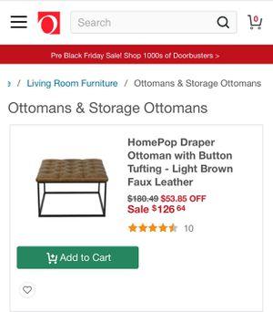Ottoman brown leather for Sale in Phoenix, AZ