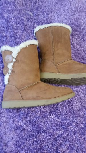Brown side button boots for Sale in Fuquay-Varina, NC