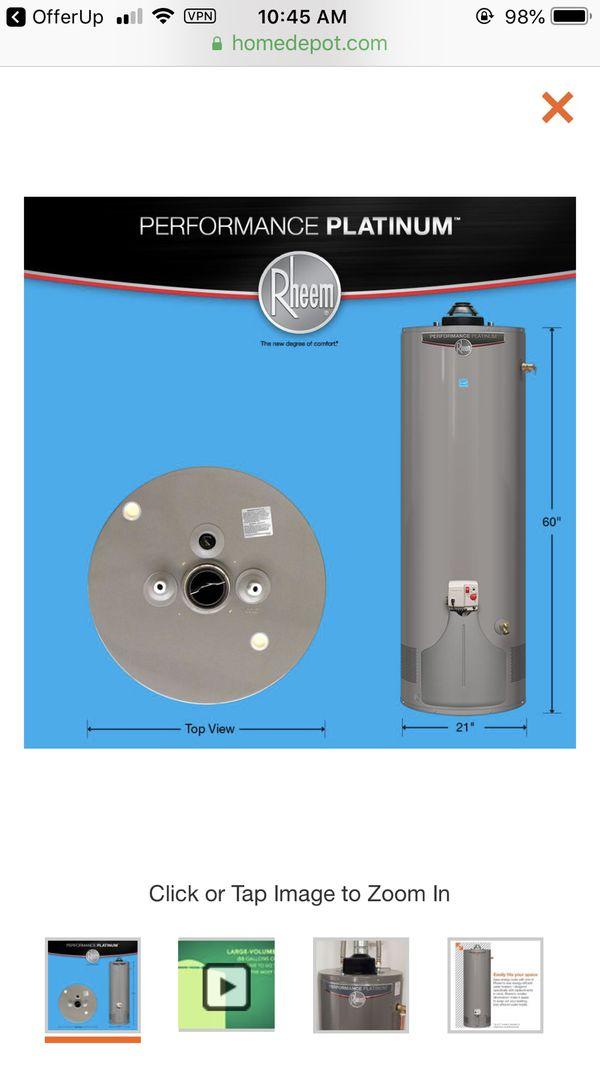 Model # xg40t12du38u1 Brand new house water heater Rheem platinum