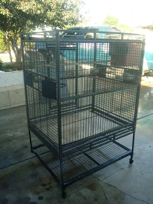 Big bird cage bout 4 feet tall and 3 feet wide for Sale in Phillips Ranch, CA