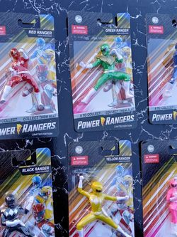 Mighty morphin Power rangers Cake Toppers Or Connectible figurines sold as A Set for Sale in Long Beach,  CA
