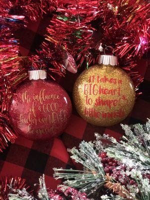 Personalized Glitter Ornaments!!! for Sale in Fontana, CA