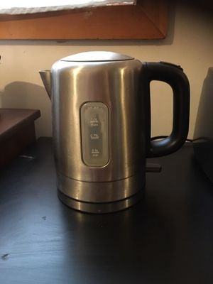 Portable Electric HotWater Kettle, silver for Sale in Medford, MA