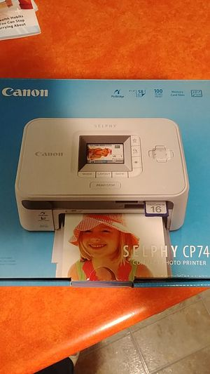 Canon Selphy CP740 Compact Photo Printer for Sale in Paw Paw, MI