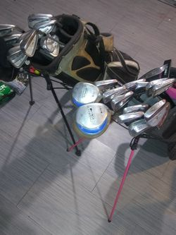 Taylormade And Nike Golf Bags With Clubs for Sale in Carson,  CA